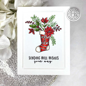 Hero Arts STOCKING BOUQUET Stamp, Die and Combo