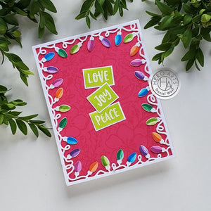 Hero Arts CHRISTMAS LIGHTS BORDER FANCY DIE