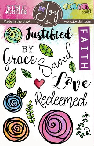 Joy Clair Saved By Grace Large Stamp Set