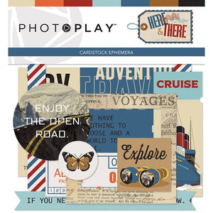 Photoplay HERE and THERE 12 x 12 Collection Kit, Ephemera