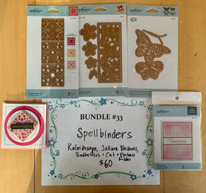 BUNDLE 33- Spellbinders Set of Three Dies & Cut and Emboss Folder