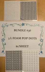 BUNDLE #36 Foam Pop Dots Single Open Stock Sheets $1