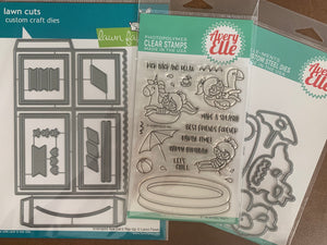 BUNDLE DEAL- Lawn Fawn Box Card, Avery Elle Pool Party