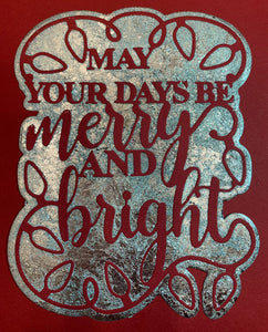 Creative Expression Merry & Bright Christmas Die