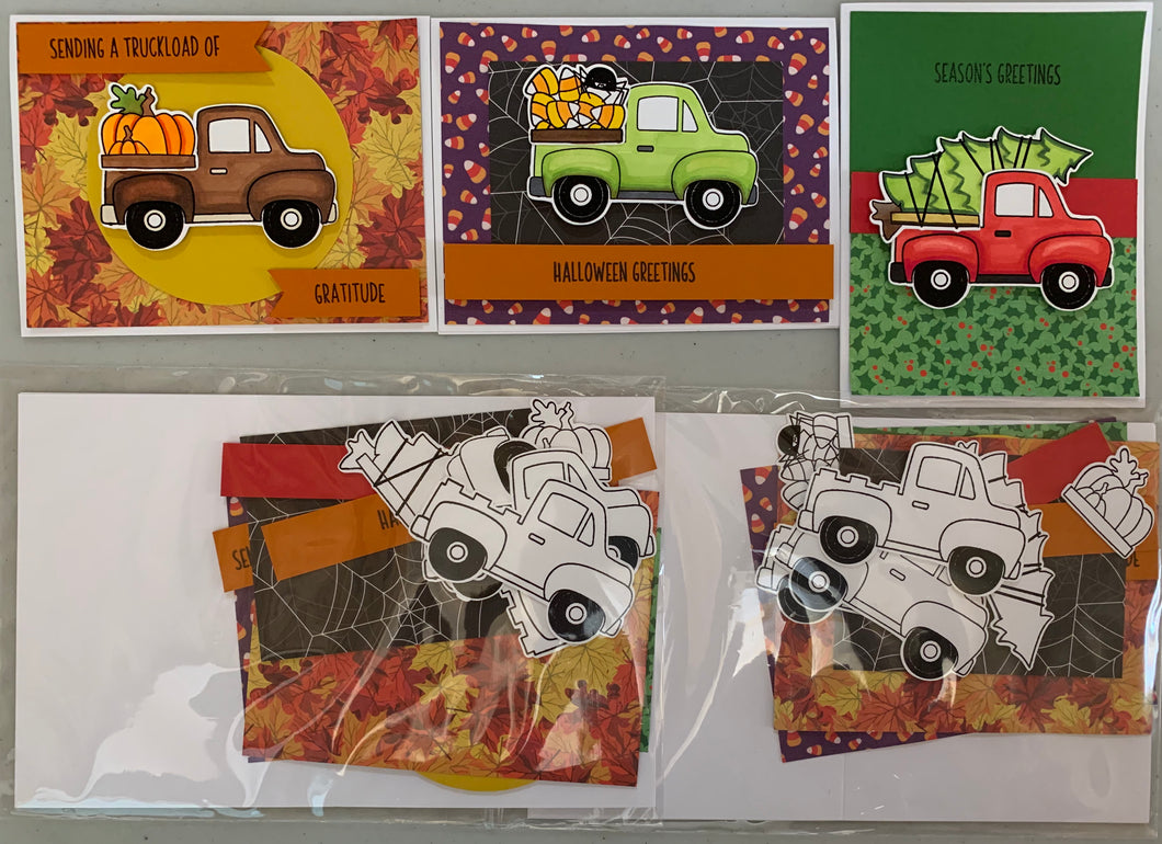 Craft Along VOLUME October 9th- Pink & Main Truck Cards, Concord & 9th Turnabouts