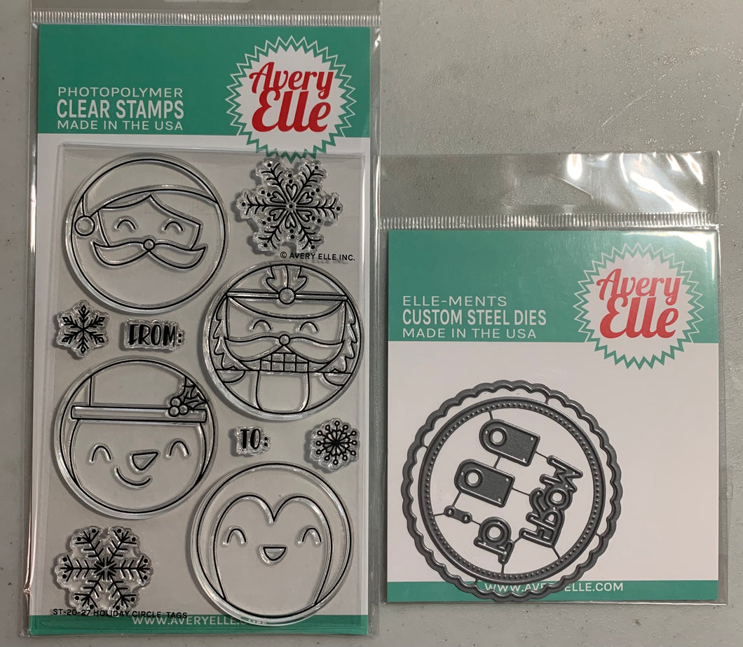 Avery Elle Holiday Circle Tags Stamp and Die