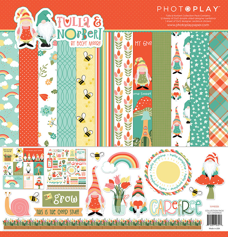 Photoplay Tulla & Norbert Gnomes 12x12 Collection Pack