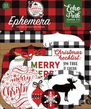 Load image into Gallery viewer, Echo Park A Lumberjack Christmas 12 x 12 Collection Kit, Ephemera. 6x6 Paper Pad