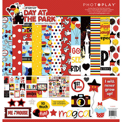 Photoplay Another Day at the Park 12x12 Collection Pack, Ephemera, 6x6 Paper Pad