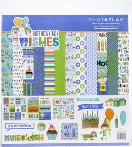 Photoplay Birthday Wishes Boy & Girl 12 x 12 Collection Packs, Ephemera