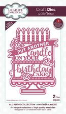 Creative Expressions Put Another Candle on Your Birthday Cake Die Set