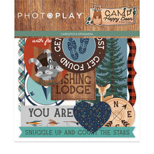 Load image into Gallery viewer, Photoplay CAMP HAPPY BEAR 12 x 12 Collection Pack, 6 x 6 Paper Pad, Ephemera