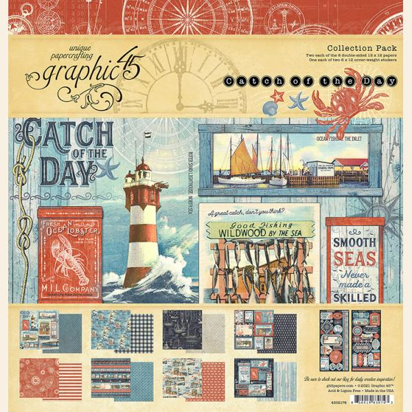 Graphic 45 Waterfall Folio Catch of the Day Kit PREORDER