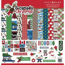 Load image into Gallery viewer, Photoplay O Canada Christmas 12 x 12 Collection Kit, Ephemera, Stamp Set
