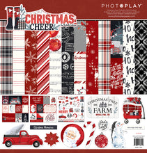 Load image into Gallery viewer, Photoplay Christmas Cheer- 12x12 Collection Pack, 6x6 pad, Ephemera, Card Kit