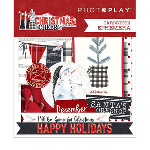 Photoplay Christmas Cheer- 12x12 Collection Pack, 6x6 pad, Ephemera, Card Kit