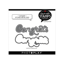 Load image into Gallery viewer, Photoplay Say It With Stamps CONGRATULATIONS Stamp & CONGRATS Die