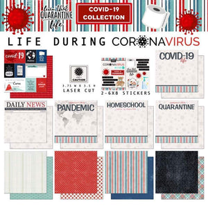 Life During Coronavirus Covid-19 Paper Collection with stickers and die cut