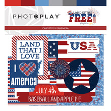 Load image into Gallery viewer, Photoplay Land of the Free  12 x12 Collection Kit, Ephemera