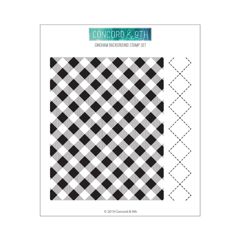 Concord & 9th Gingham Background Stamp Set