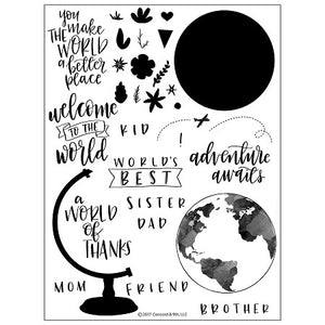 Concord and 9th Globe Greetings Stamp Set