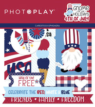 Load image into Gallery viewer, Photoplay GNOME for the Holidays 4th of July 12 x 12 Collection Kit, Ephemera