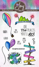 Load image into Gallery viewer, Joy Clair Going Places Stamp Set- Oh, The Places You'll Go! Graduation