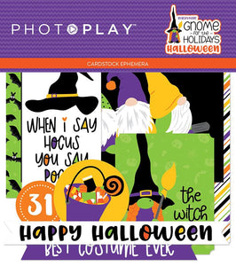 Photoplay- Gnome for the Holidays Halloween 12 x 12 Collection Pack, Ephemera