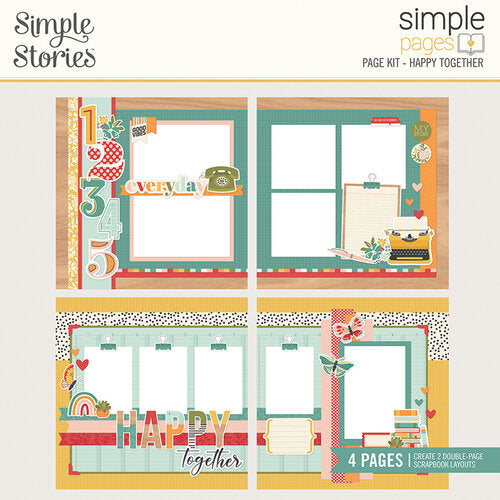 Simple Stories Simple Pages Page Kits- All My Love, Happy Together