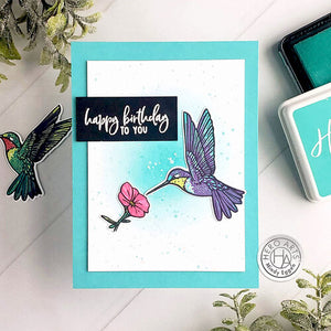 Hero Arts Color Layering Hummingbird Stamp and Die Combo