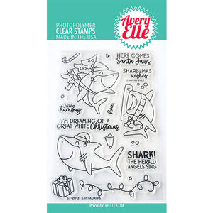 Avery Elle Christmas Santa Jaws Stamp and Die