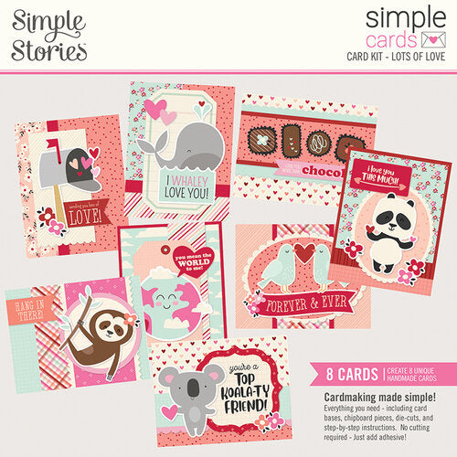 Simple Stories Card Kits- Hello Lovely, Just Married, Sending Sunshine, Wish You Were Here