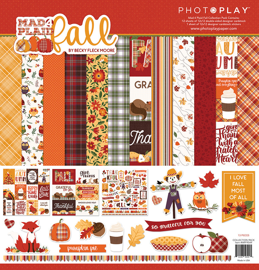 Photoplay Mad 4 For Plaid Fall 12 x 12 Collection Kit