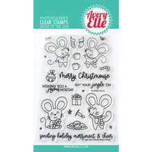 Load image into Gallery viewer, Avery Elle Christmas Mice Stamp and Die