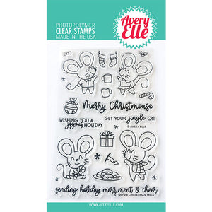 Avery Elle Christmas Mice Stamp and Die