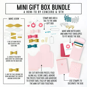 Concord & 9th Mini Gift Box Stamp & Die Set