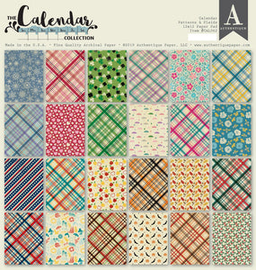 Authentique Patterns and Plaids 12x12 Paper Pad