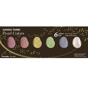 Kuretake - Gansai Tambi - Pearl Colors - 6 Color Set