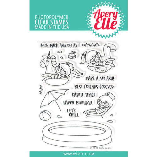Avery Elle Pool Party Stamp Set
