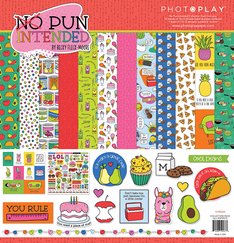Photoplay No Pun Intended 12 x 12 Collection Pack