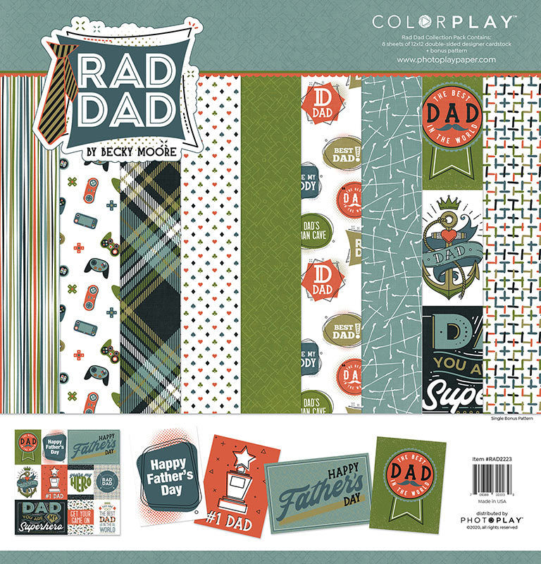 Photoplay Rad Dad 12x12 Collection Pack