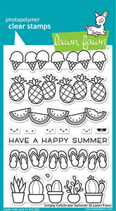 Lawn Fawn Simply Celebrate Summer Stamp and Die, Sentiment Stamp