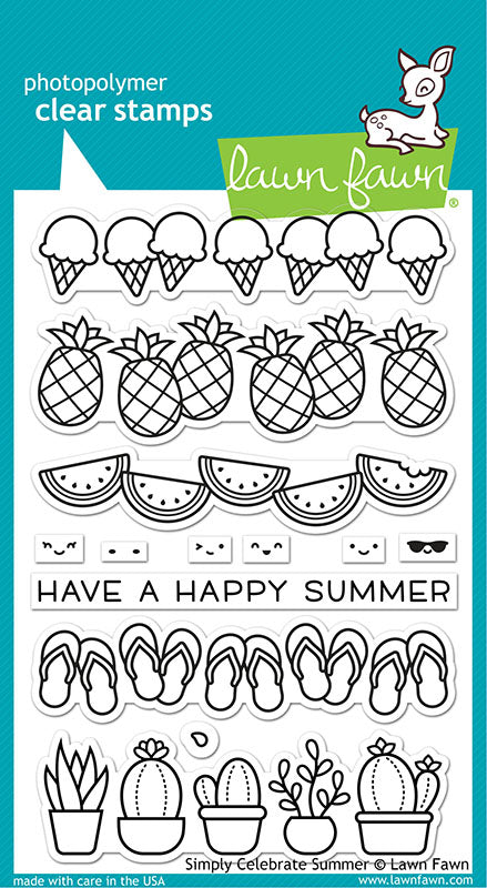 Lawn Fawn Simply Celebrate Summer Stamp Set
