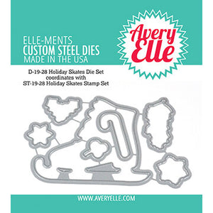 Avery Elle Holiday Ice Skate Stamp and Die