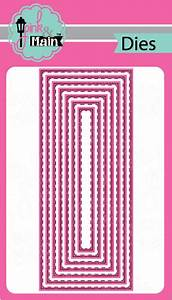Pink & Main Dies- Fancy Lattice Cover Die, Stitched Slimline