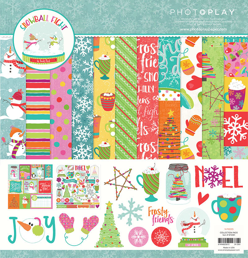 Photoplay Paper SNOWBALL FIGHT 12 x 12  Collection Pack