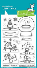 Load image into Gallery viewer, Lawn Fawn Snow Globe Scene Stamp and Die Combo,  Shutter Card Snow Globe Adds-On