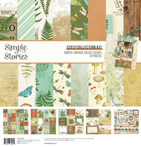 Simple Stories Simple Vintage Great Escape 12x12 Collection Pack