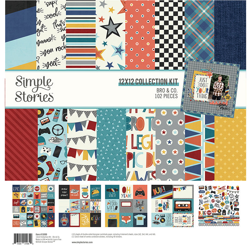 Simple Stories Bro & Co 12 x 12 Collection Kit
