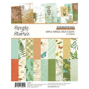 Simple Stories Simple Vintage Great Escape 6x8 Paper Pad